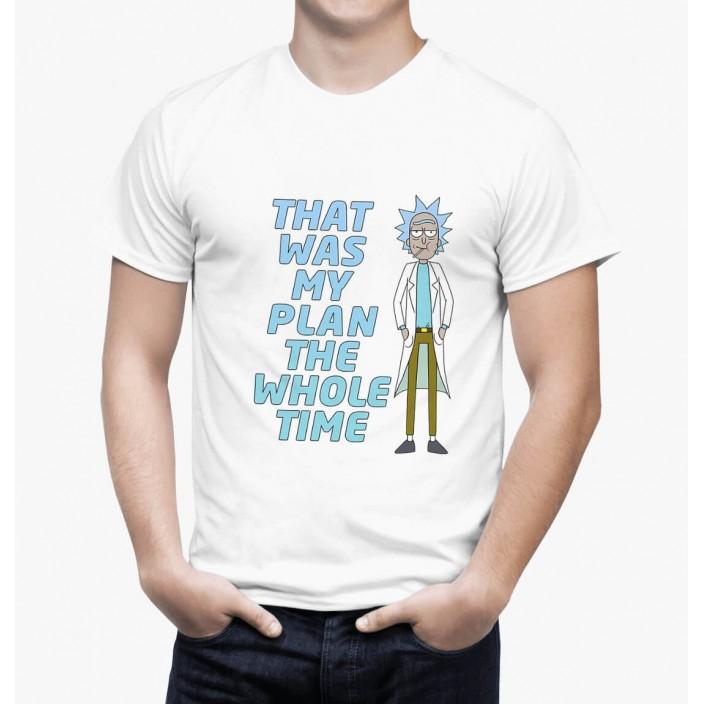 חולצת ריק ומורטי Rick Plan לבנה
