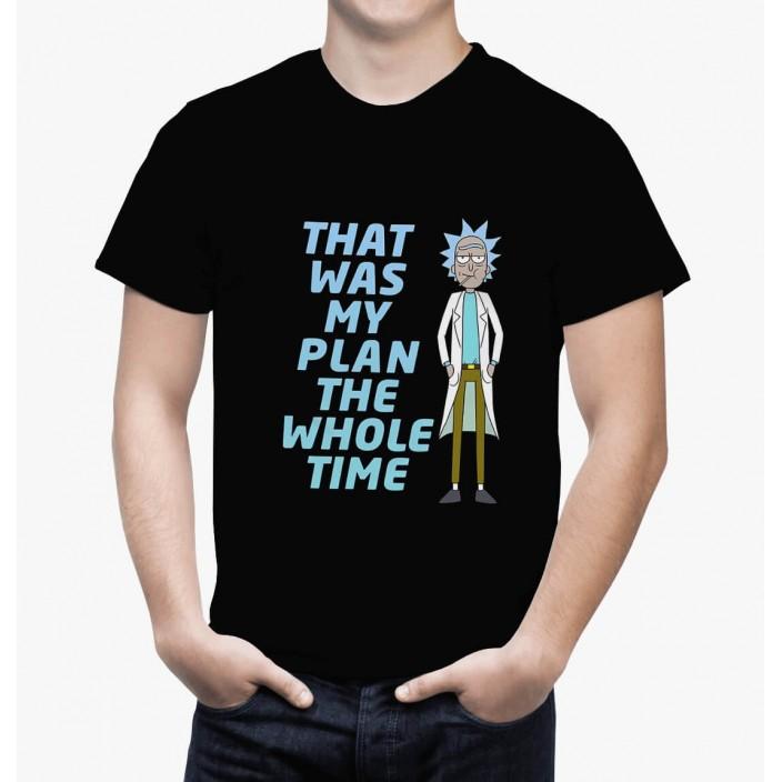 חולצת ריק ומורטי Rick Plan שחורה