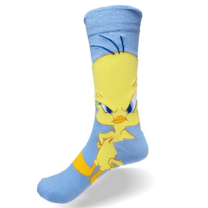 גרביים מעוצבים טוויטי תכלת